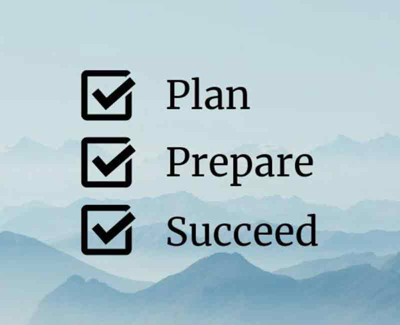 Plan Prepare Success are the steps for success of an organization