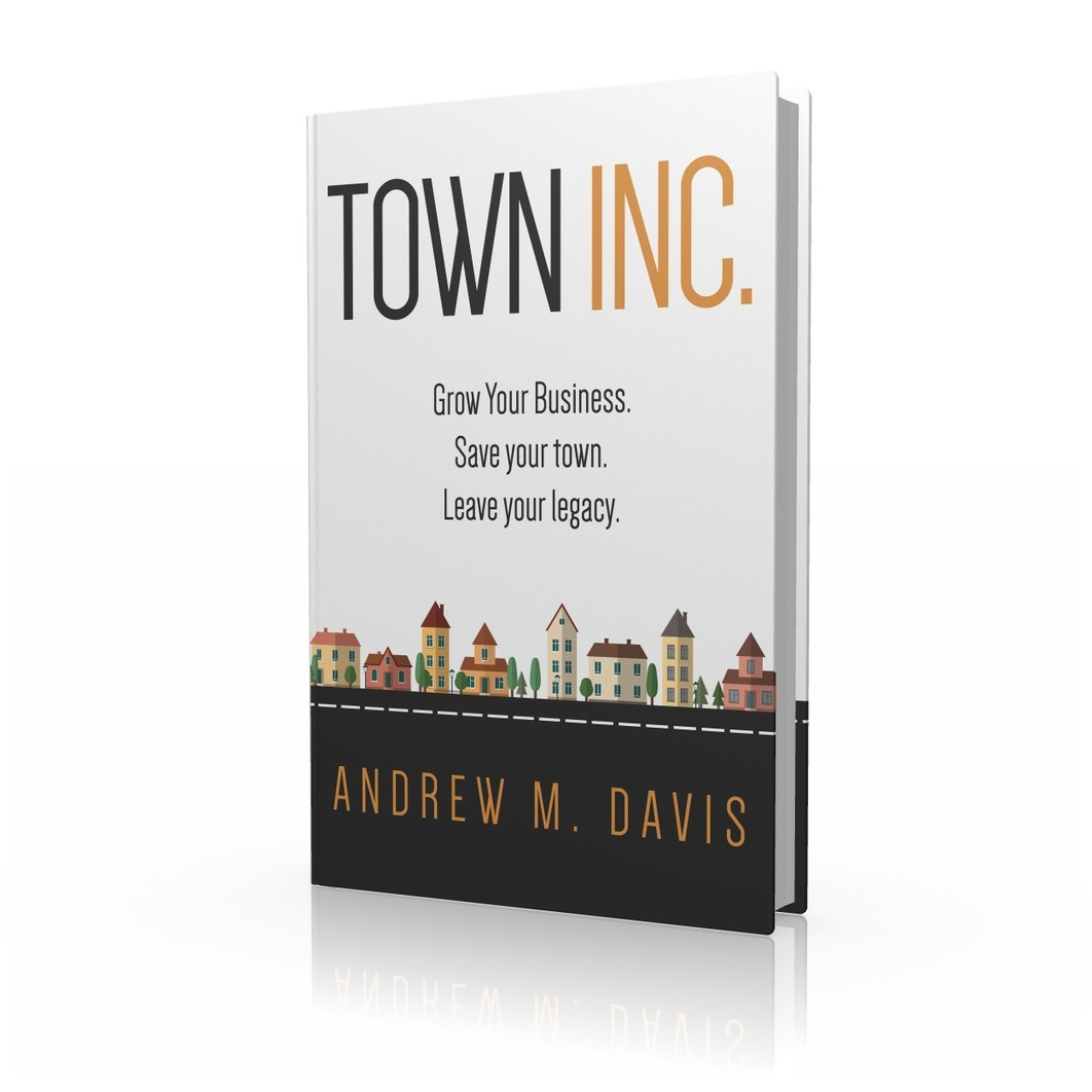 Town Inc. book with a white background