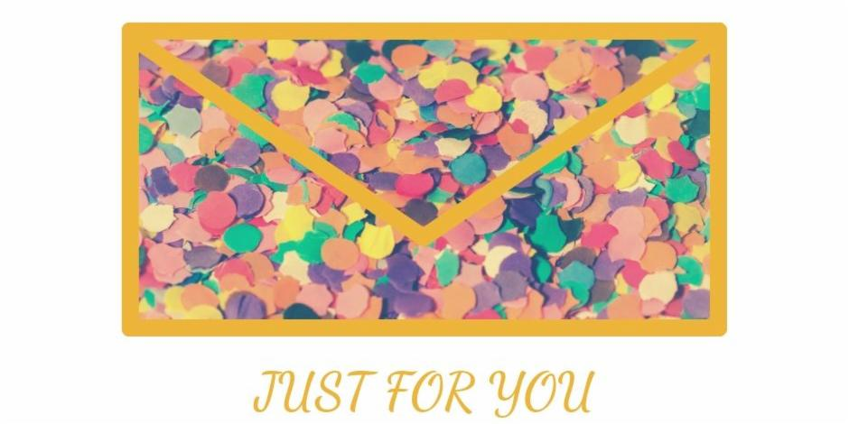 Colorful Message box Just for you