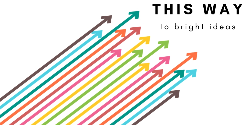 Colorful arrows with a text This way to bring Ideas