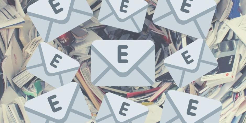 Multiple Email Box with a text E