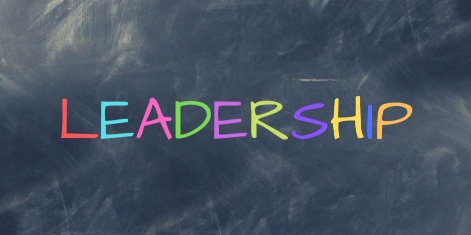 Leadership text written on a Blackboard
