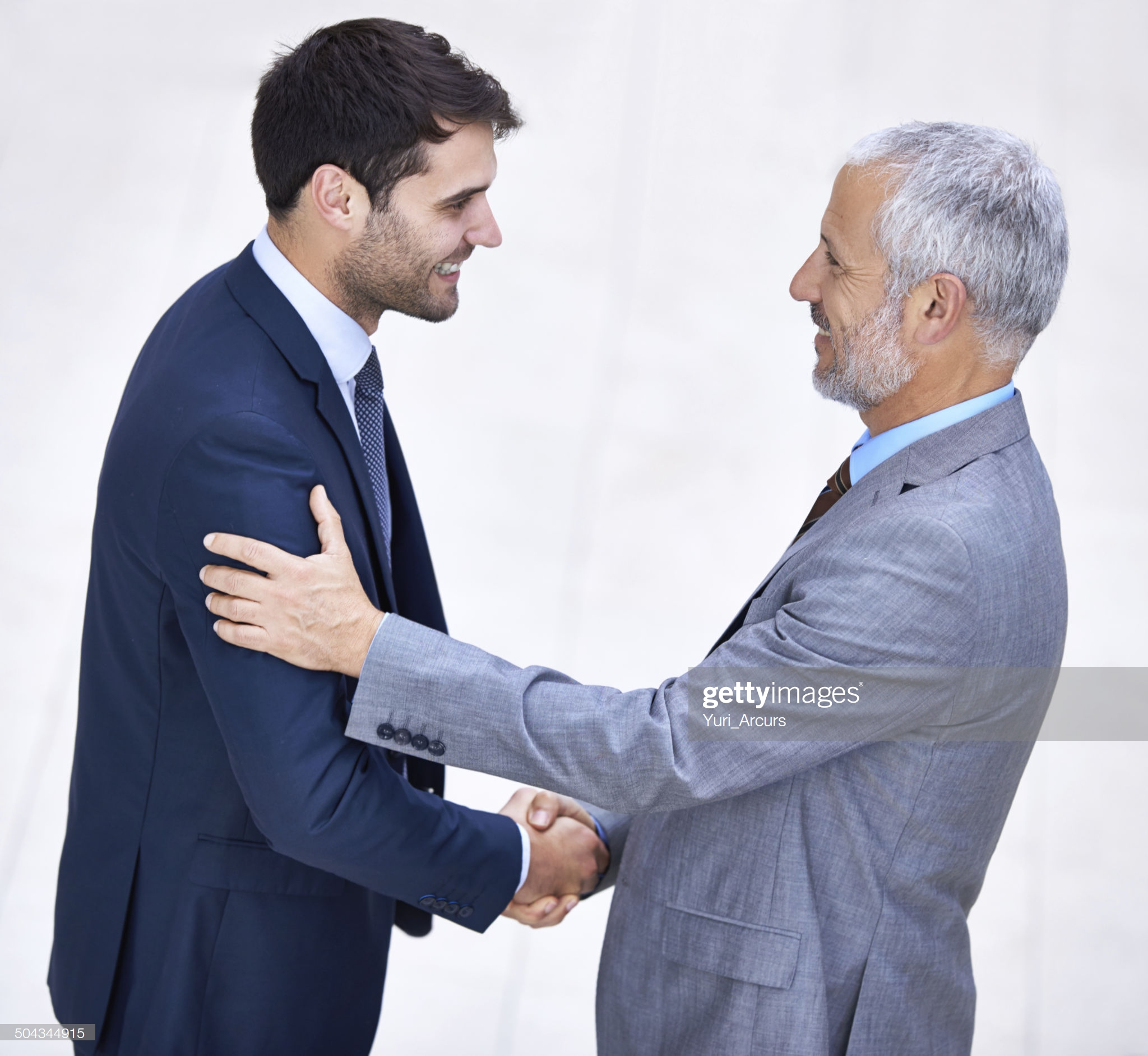 Picture of two person shaking hands