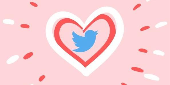 Twitter icon bird in heart